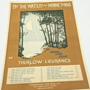 By The Waters Of Minnetonka sheet music - 1915